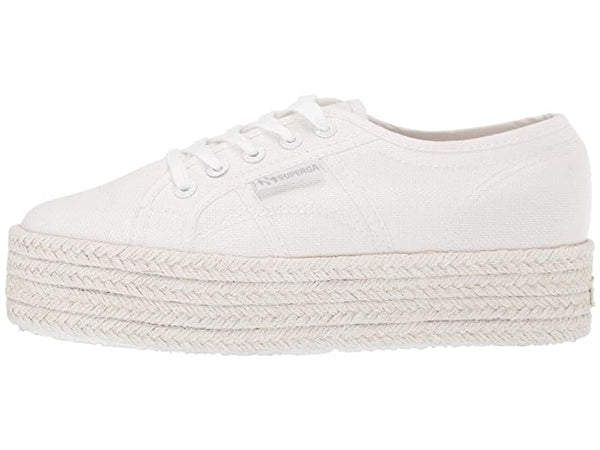 SUPERGA WHITE ROPE PLATFORM