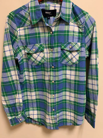 CLOTHING OF AMERICA SNAP BUTTON PLAID SHIRT