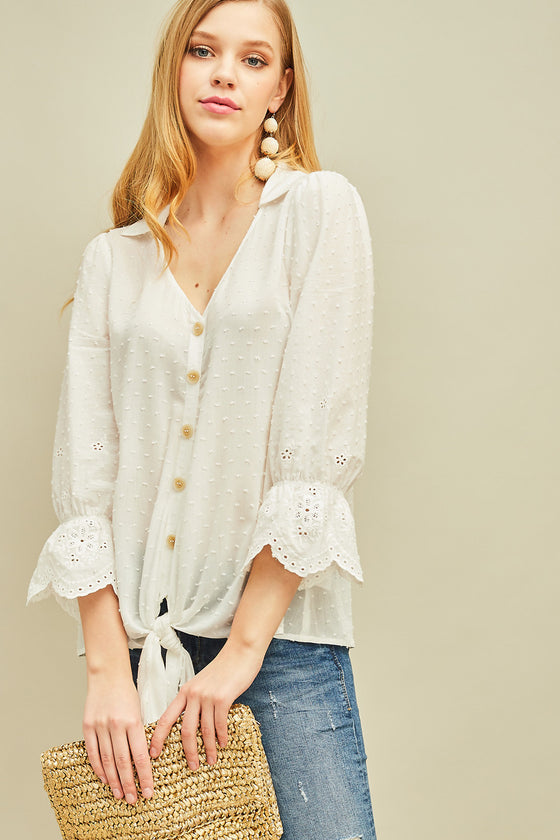 ENTRO OFF WHITE TOP