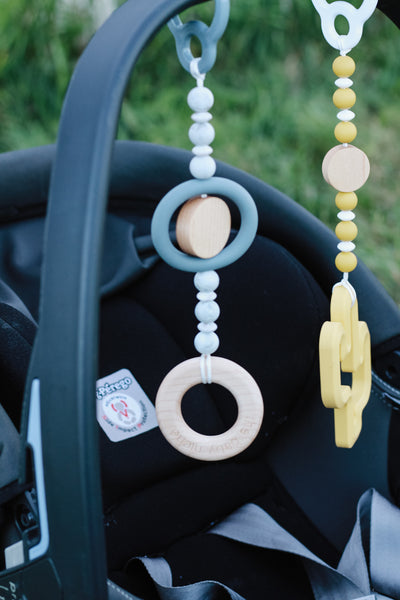 Play Gym teether + toys // Carseat hook