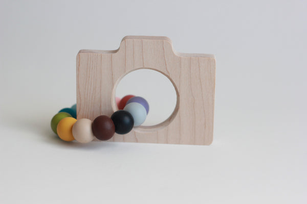 CAMERA Teether + Toy // Customize - The Baby Niche