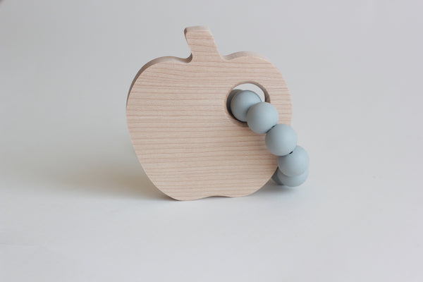 Apple Silicone Teether + Toy // Customize - The Baby Niche