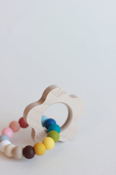 Poppy Silicone Teether + Toy // Customize - The Baby Niche