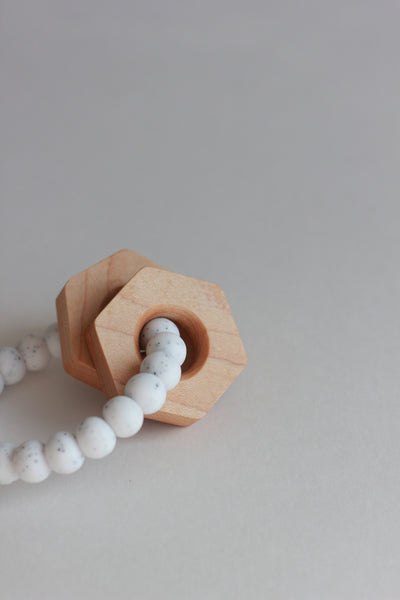 HEX Silicone Teether + Rattle - The Baby Niche