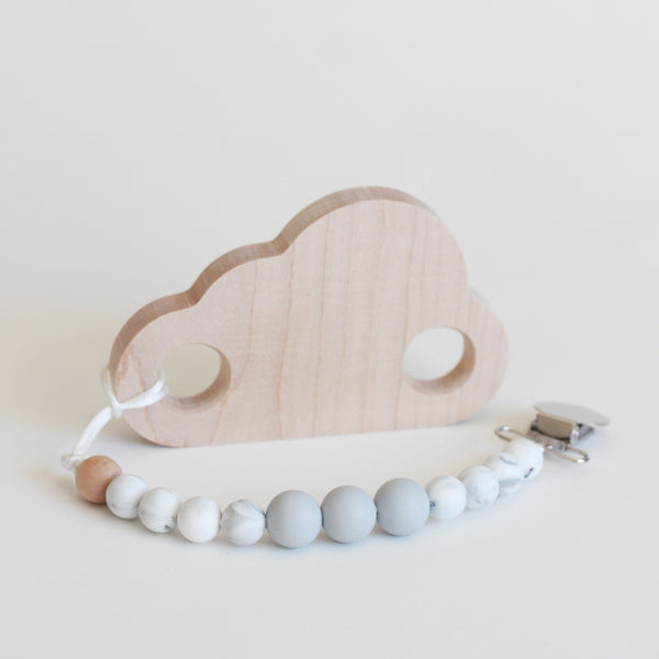 Cloud Silicone Teether + Toy // Customize - The Baby Niche