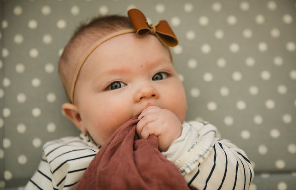 the BUBBY // muslin cotton blanket + teether
