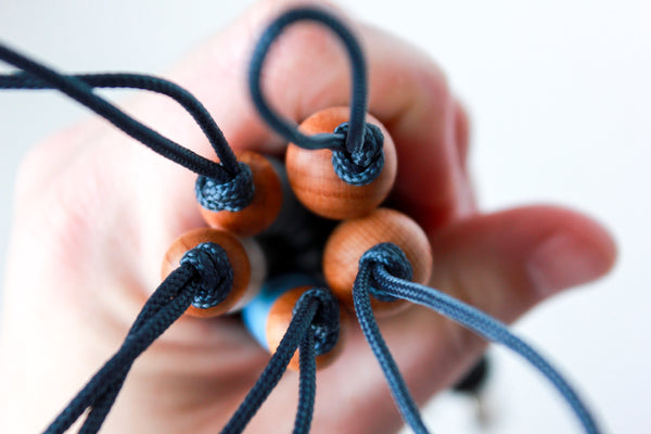 the PETITE RUGGED soother clip // NAVY