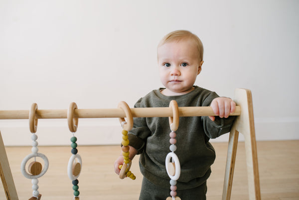 Play Gym teether + toys // TRIANGLE