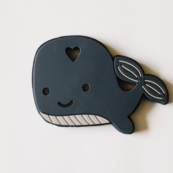 WHALE Silicone teether - dishwasher + freezer safe