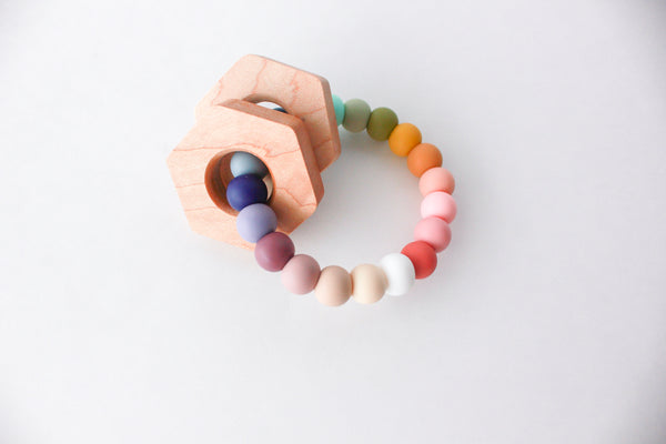 HEX Silicone Teether + Rattle
