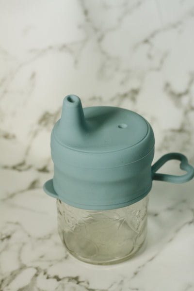 Silicone sippy tops // dishwasher safe