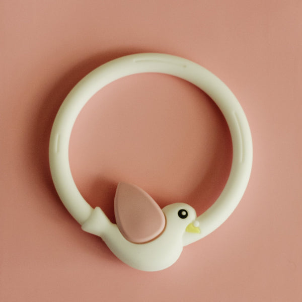 Animal teething ring - dishwasher + freezer safe