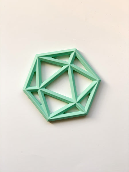 HEXAGON Silicone teether - dishwasher + freezer safe