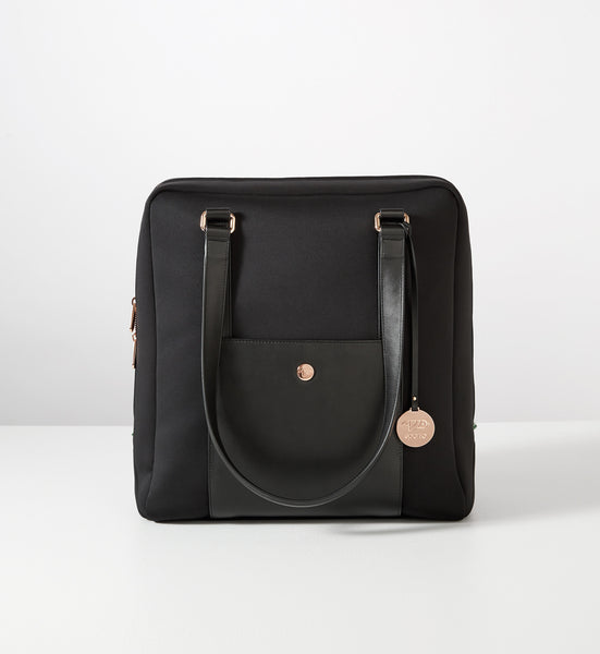 Classic Carry-All: Black w Rose Gold
