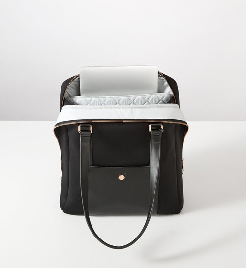 Sparro Designs | Classic Carry-All: Black w Rose Gold