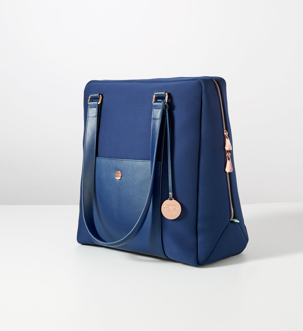 Classic Carry-All: Ink Blue w Rose Gold