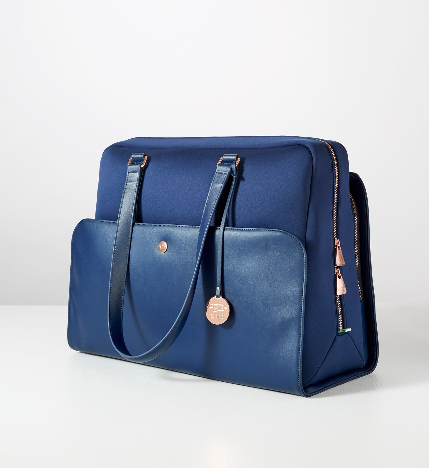Signature Carry-All Ink Blue w Rose Gold