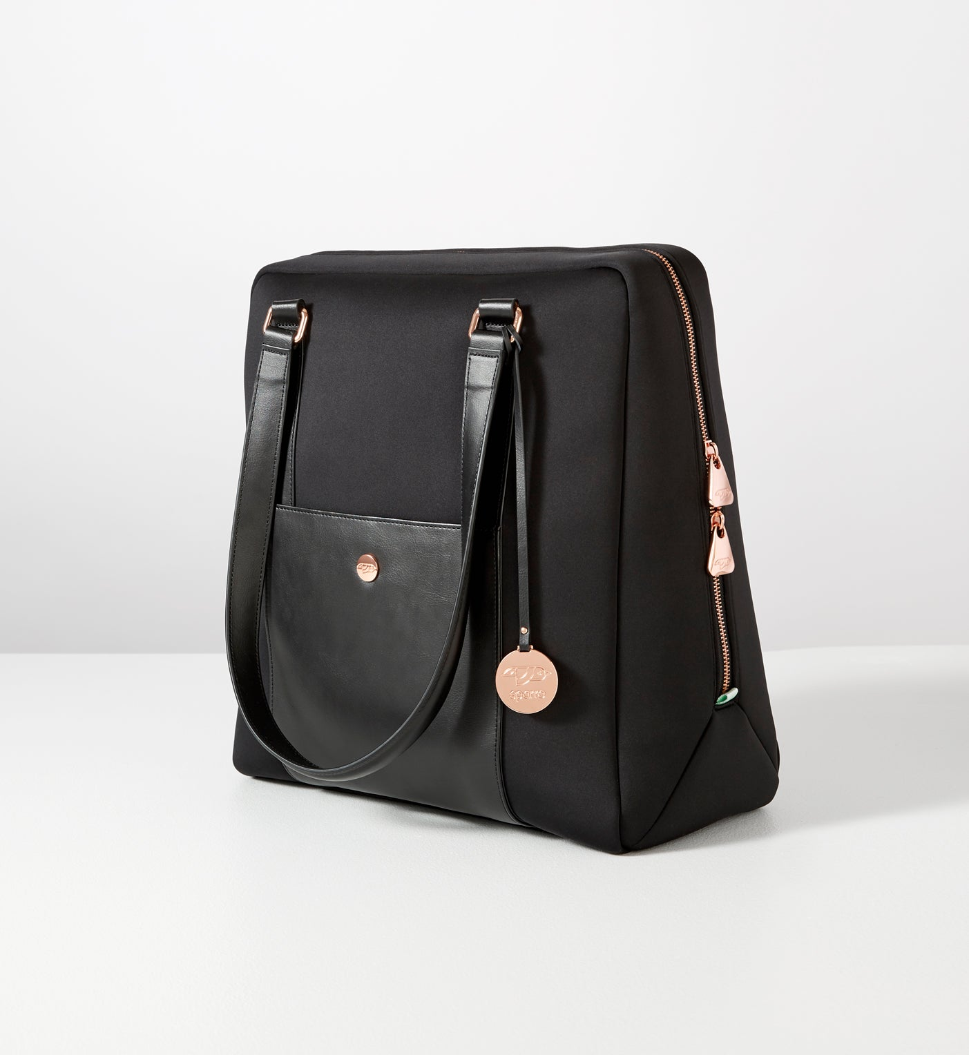 Classic Carry-All Black with Rose Gold