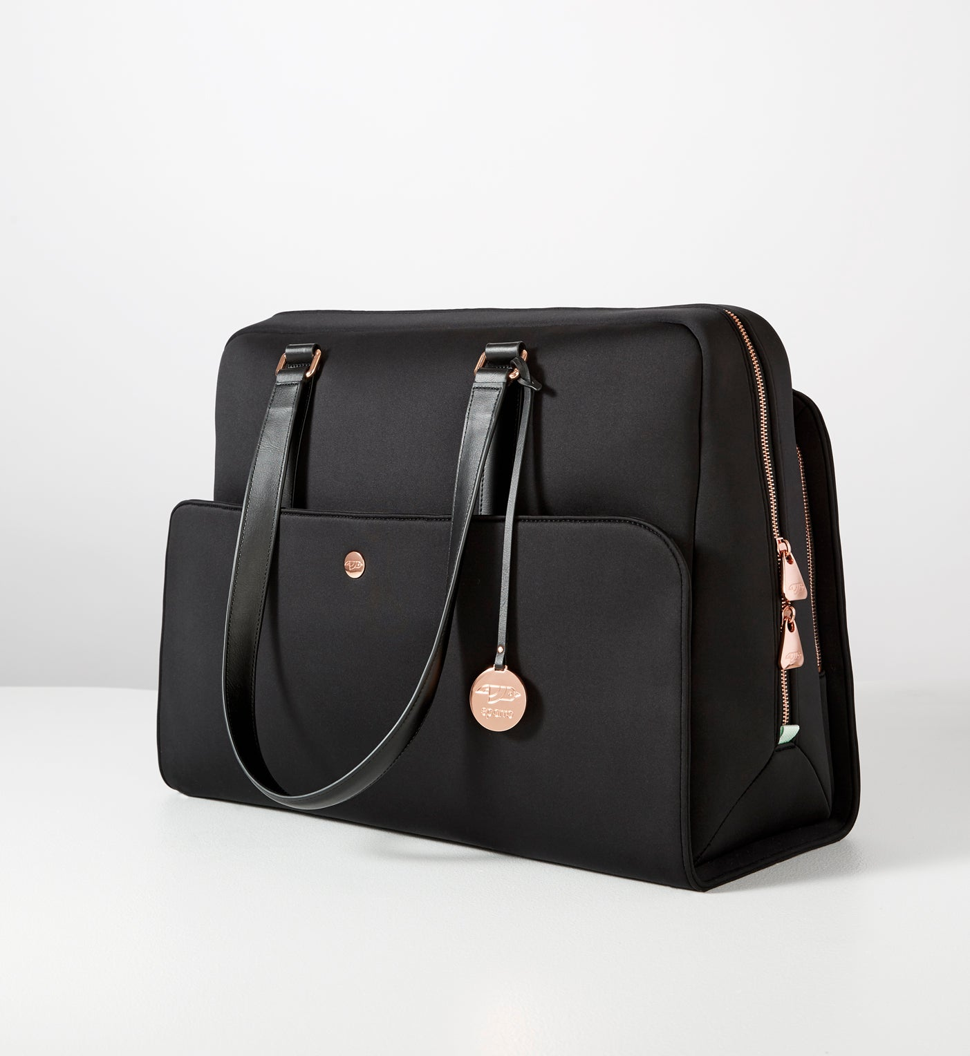Signature Flex Carry-All Black with Rose Gold