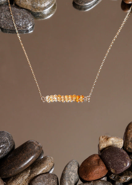 Citrine Bar Necklace