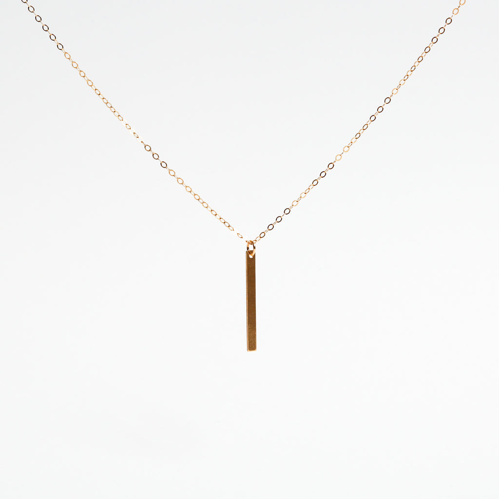 Simple Metal Bar Necklace