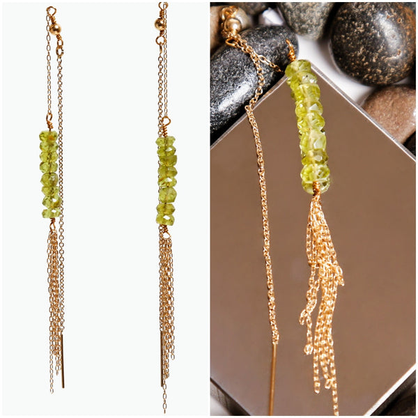Gemstone Tassel Ear Threads