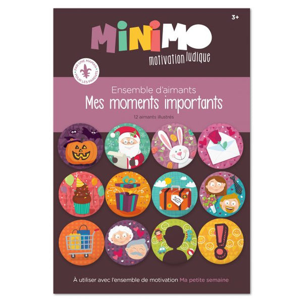 Minimo Mes moments importants  ( 12 aimants)