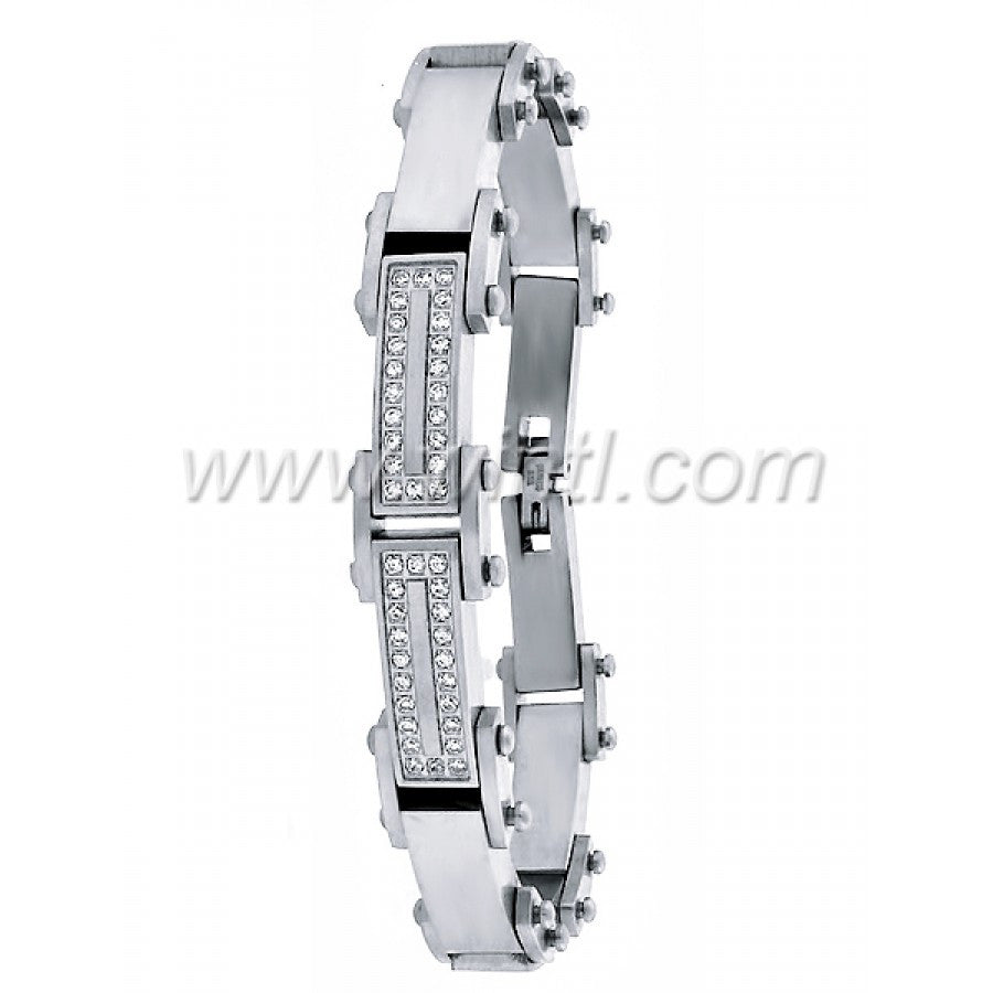 Steel Bracelet with CZ 0010-A