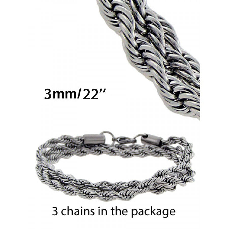 Rope Chain in Silver color