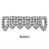 925 STERLING SILVER TOP AND BOTTOM CZ GRILLZ IN Silver COLOR-  929921