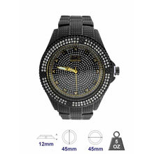 Metal Band watch with crystal stone for Men 561813