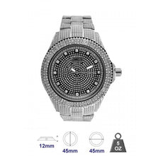 Metal Band watch with crystal stone for Men 561817