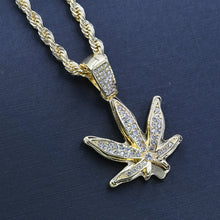 MARIJUANA LEAF CHAIN AND CHARM - D910142