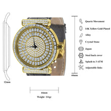 Plaltial Bling Leather Watch | 5110352
