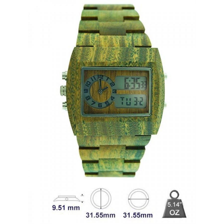 Natural wood watch for Men's