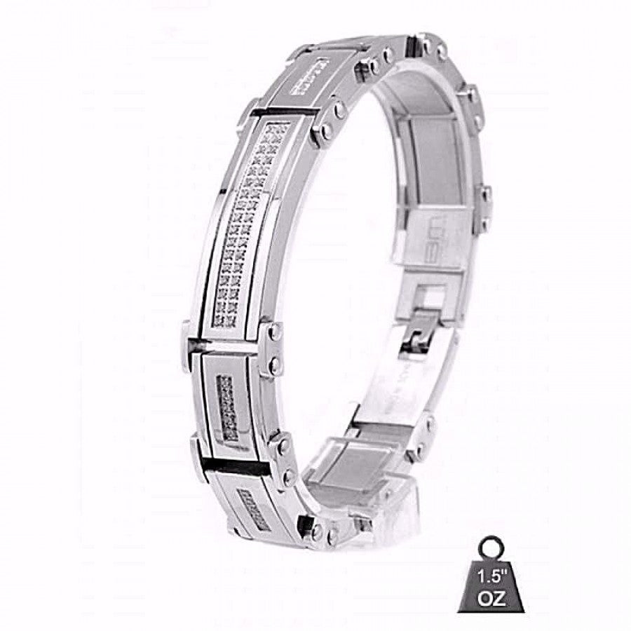 Stainless Steel bracelet with CZ 8016-1