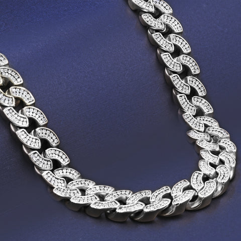 ALPINE 925 Sterling Silver 8MM CZ Cuban | 9211842