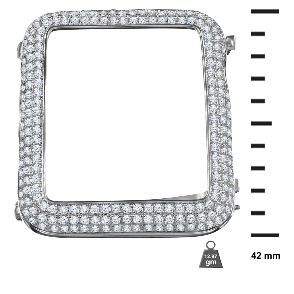 925 Silver Apple Series 3 & 2 Bezel with AAA Micro Pave set CZ