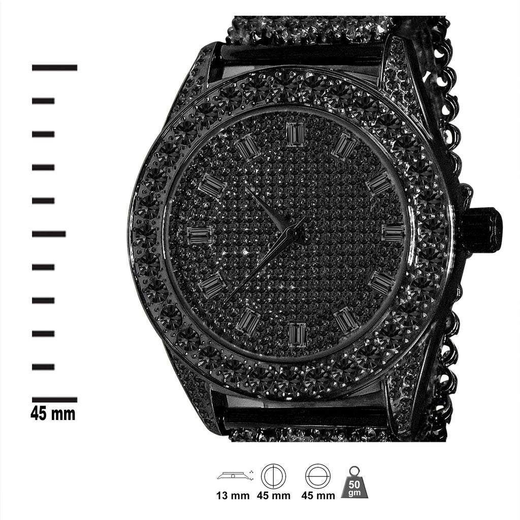 CZ Watch Band with fully iced out Dial