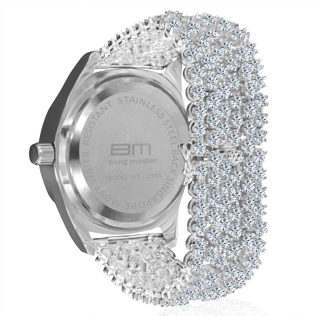 CZ WATCH BAND WITH FULLY ICED OUT DIAL-5110281