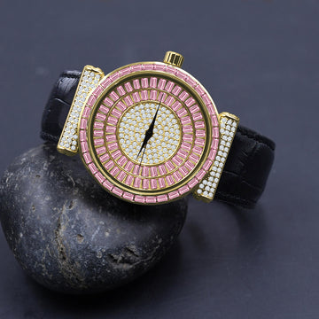 Plaltial Bling Leather Watch | 51103550