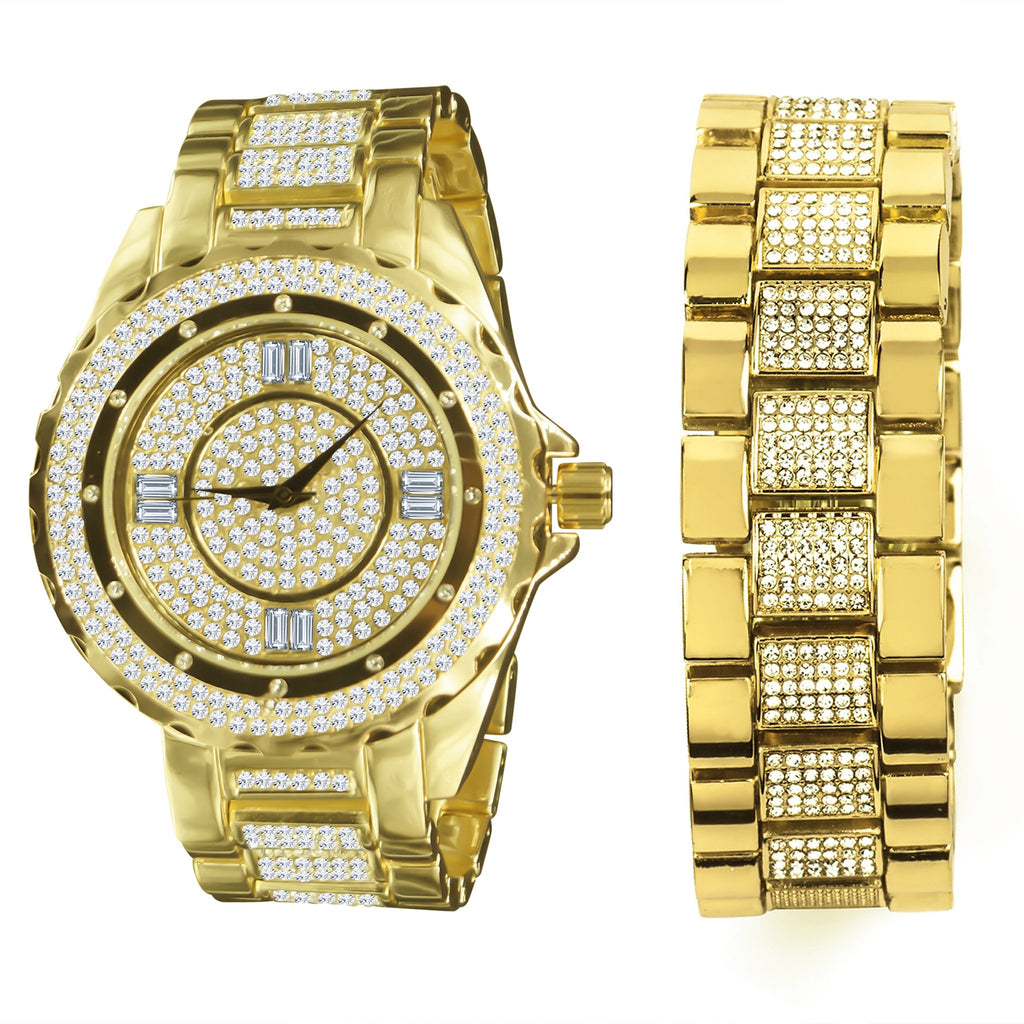 Ultra Bling Watch  & Bracelet  Set