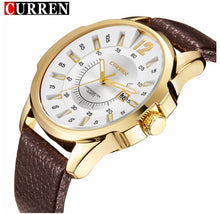 Curren REGIMENT Gold Case Strap Watch | 5401942