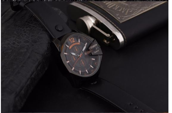 Curren MILITARY Mens Classic Leather Strap Fashion Watch | 540283