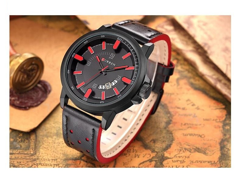 KEATON Curren Leather Watch | 540453