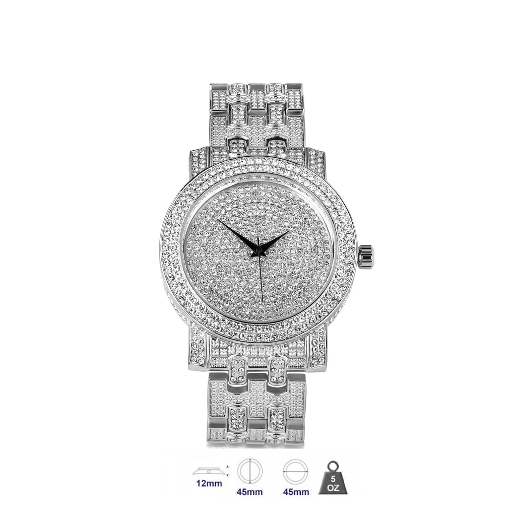 Bling metal watch for men-561071