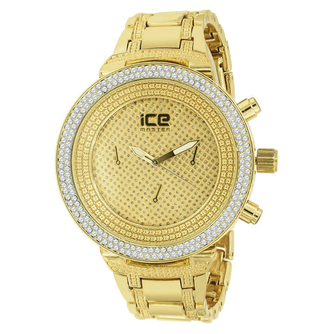 TRI Ice Master Beige Dial CZ Watch | 5623242