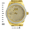 MICHAEL Ice Master Gold Baguette CZ Watch | 562352
