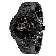 Black  2 Row Black Dial Iced out Bling Metal