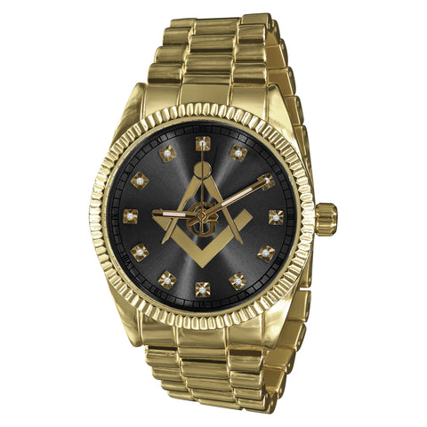 Bling Metal Band Watch For Men-5623142